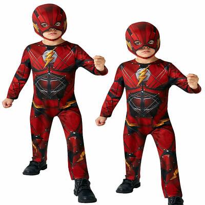 Jungen die Flash Kostüm Superheld Kinder Kostüm Halloween Outfit