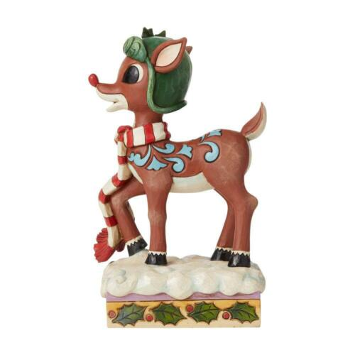 Jim Shore Heartwood Creek Rudolph in Aviator Hat