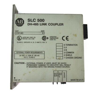 Allen-bradley Ab Slc 500 Dh-485 Series B Link Coupler Module 1747-aic 24vdc