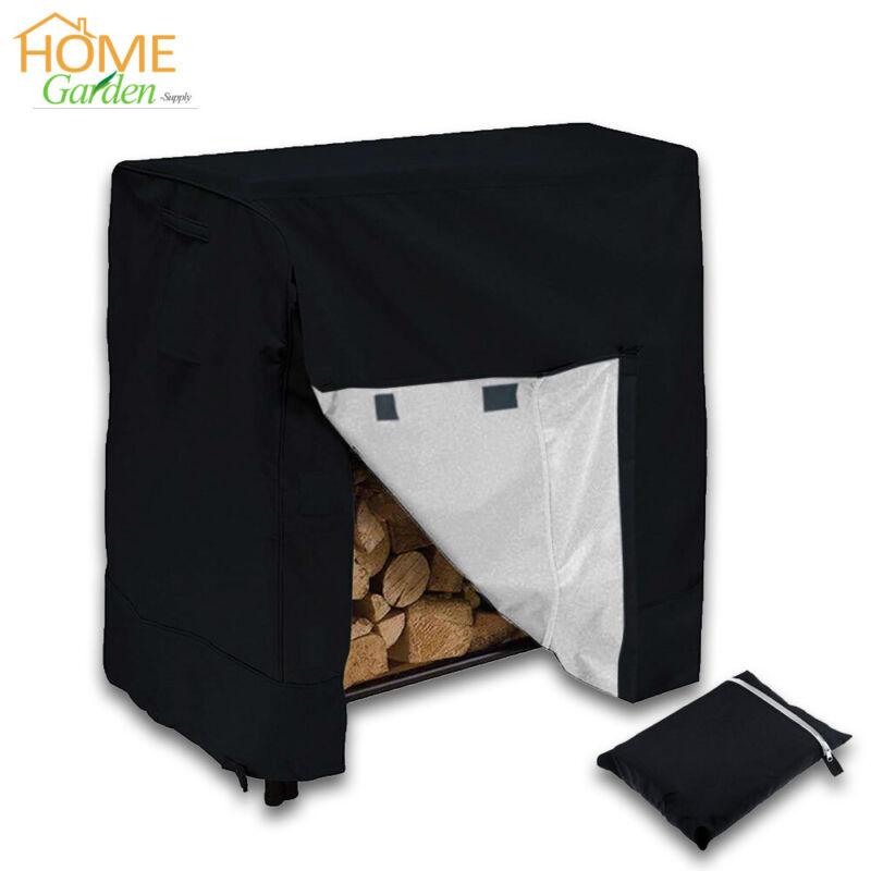 4FT 420D Waterproof Log Rack Cover Outdoor Firewood Storage Rain Dust Protector