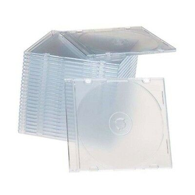 50 New single Slim Clear CD/DVD/VCD Jewel Cases Storage Boxes 5.2mm