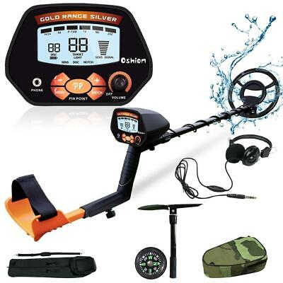 Adjustable Metal Detector Gold Digger Hunter Deep Sensitive 10 Waterproof Coil
