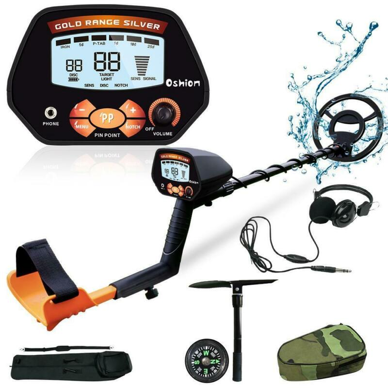 "Adjustable Metal Detector Gold Digger Hunter Deep Sensitive 10"" Waterproof Coil"