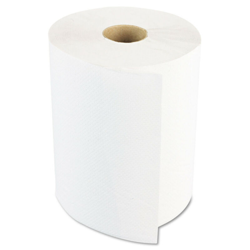 Boardwalk 6254B 6 RL/CT 1-Ply 8 in. x 800 ft. Hardwound Paper Towels - White New