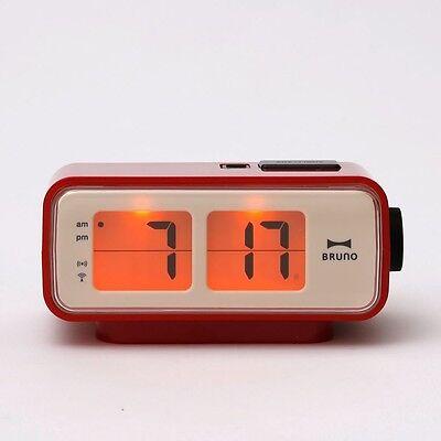 BRUNO Flip Clock Type Digital Retro Compact S RED BCR003-RD