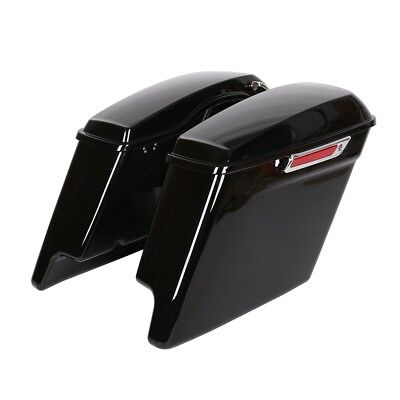5'' Complete Extended Stretched Saddlebags Saddle bag for Harley Touring 14-18