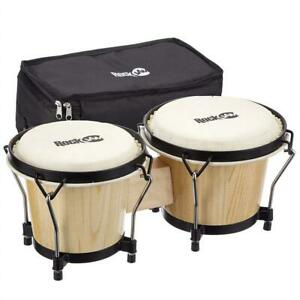 Used RockJam 100300 7  8 Bongo Drum Set with Padded Bag, Natural Condtion: Used. Broken 2 Pieces, Natural