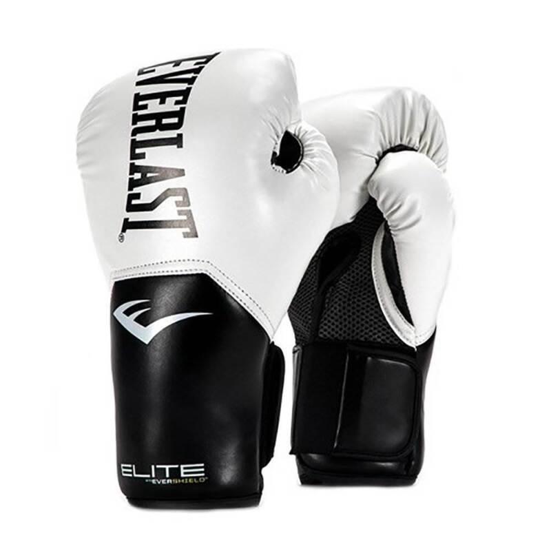 Everlast Pro Style Elite Workout Training Boxing Gloves Size 12 Ounces, White