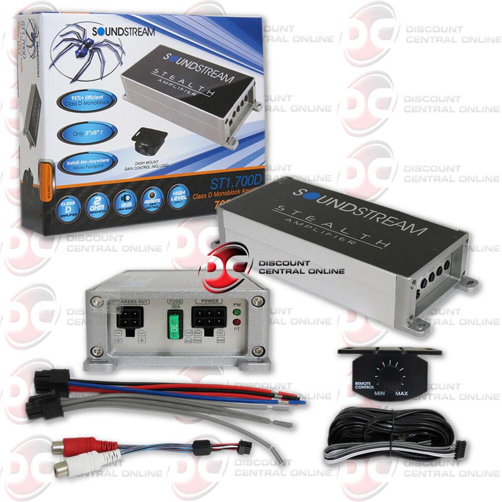 Soundstream ST1.700D Stealth 700W Micro Class D Mono Amplifi