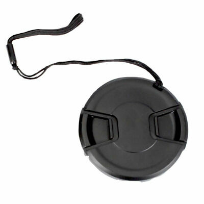 52mm Center Pinch Snap-On Lens Cap with Leash Canon Nikon Sony DSLR Camera