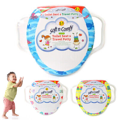 Kids Potty Training Seat Toddler Toilet Chair Soft Cover Pad Travel Portable Fun