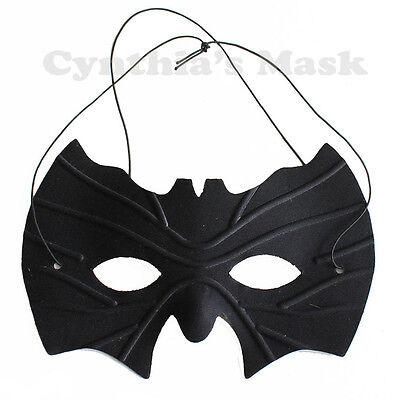 Black Batman Eye Mask Masquerade Party Prom Halloween Costume Mardi Gras Cosplay ()