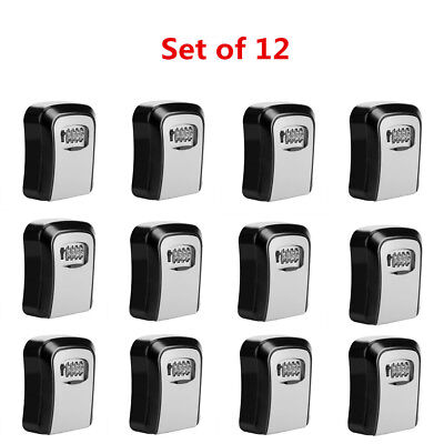 Pack Of 12 Lockbox Wall Mount Safe Key Lock Box For Realtor Real Estate 4 Digit