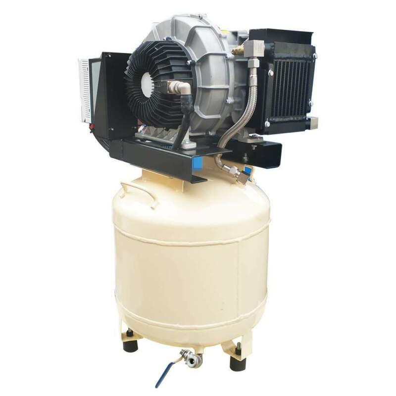 3 Hp 1 Phase VSD Oil Free Scroll Air Compressor 230 V 8 cfm with 10 Gal. Tank