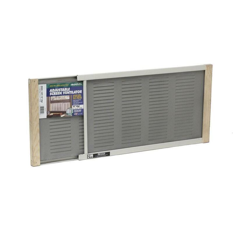 37 x 10 inch Aluminum Adjustable Screen Ventilator Wide Window Privacy Rain Bug