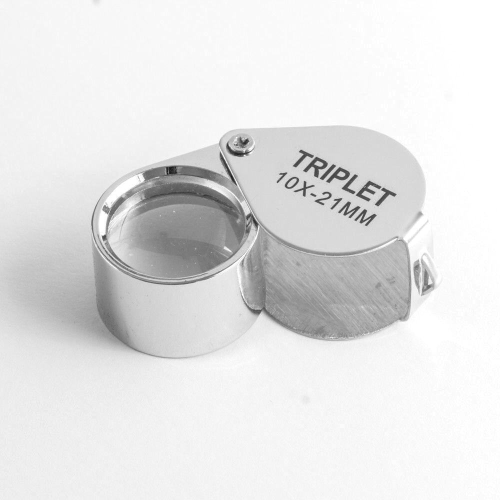 10 fach Vergrößerungsglas Juwelier Lupe Taschenlupe Uhrmacher Lupen Handlupe 10x