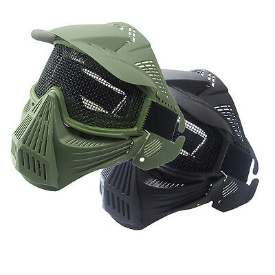 Mesh Maske (Fashion Tactical Airsoft Full Face Mask Safety Metal Mesh Goggles Protection CS)