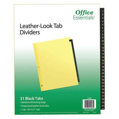 Office Essentials 7278211485 Binder Dividerpreprinted Tabsbrown