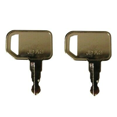 Set Of 2 Ignition Keys Fits John Deere 110tlb 4210 4310 4410 4510 4610
