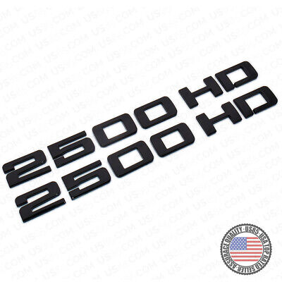 2x Chevy Silverado 2500 HD Fender Nameplates Letter 3D Emblem Z71 Gloss Black