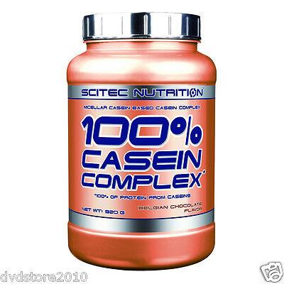 PROTEINA SCITEC 100% CASEIN COMPLEX caseina micellare 920 GR Cioccolato Belga