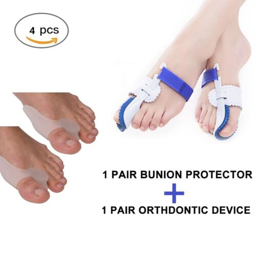 2Types Big Toe Bunion Splint Straightener Corrector Hallux Valgu Relief Pain Foot Creams & Treatments