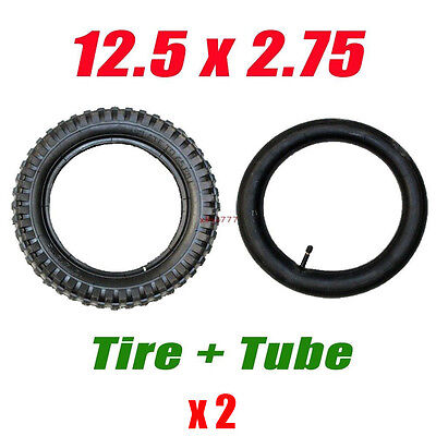 Pair 12 1/2 x 2.75 (12.5 x 2.75) Tire + Tube Mini Dirt Bike Pocket Razor MX350