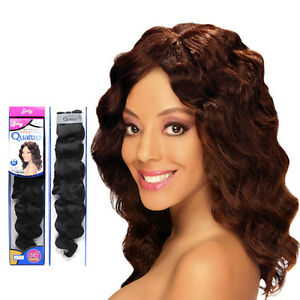 Zury Quattro Indian Remy Human Hair Wet & Wavy Weaving 42
