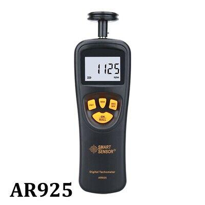 Digital Tachometer Handheld Contact Motor Speedometer Tach Electrical Tester