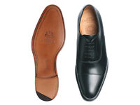 Joseph Cheaney Lime Classic Oxford in Black Calf Leather 12 uk
