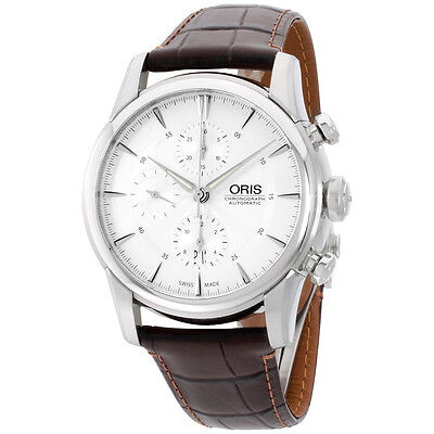 Oris Artelier Chronograph mens 44 mm watch 77476864051LS