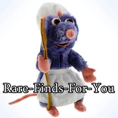 "Disney Parks Pixar Movie Ratatouille Chef Remy the Rat Plush Doll Toy 9"" H (NEW)"