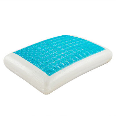 Classic Bed Pillows Brands Reversible Cool Gel Memory Foam Double-Sided Pillow