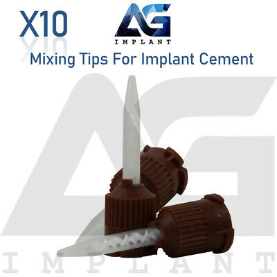 10 Mixing Tips To Automix Dental Implant Cement Dual Barrel Syringe Crown Bridge