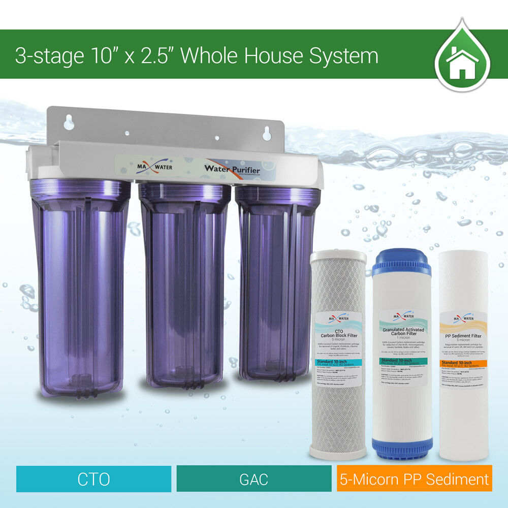 3 Stage Whole house water filter Sediment Carbon Filter