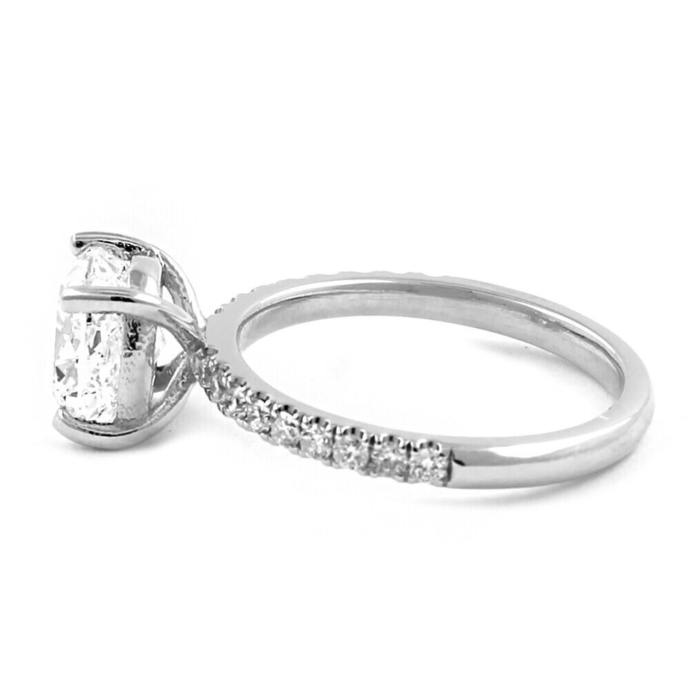 GIA Certified Diamond Engagement Ring 2.45 carat Cushion Shape Platinum 3