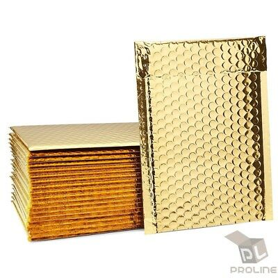 250 0 Glamour Metallic Gold Poly Bubble Mailers Envelopes Bags 6x10 Dvd Wide Cd
