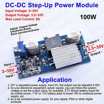 Dc-dc 100w 3v 5v 12v 24v To 3.5-35v Boost Step-up Converter Module Power Supply