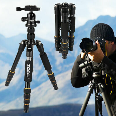 ZOMEI Camera Tripod with Monopod Ball Head Travel for Canon Nikon DSLR Camera