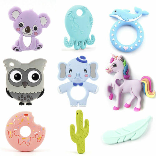 Octopus Donut Cactus Silicone Teether Baby Sensory Safely Chewy Teething Jewelry