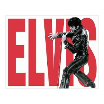 Metalen Retro Bord Elvis Leather (Movies)