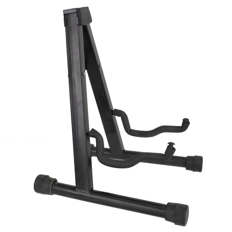 Black Steel + Plastic Adjustable Folding Cello Stand for 1/8-4/4 Cellos