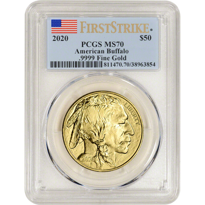 2020 American Gold Buffalo 1 oz $50 - PCGS MS70 First Strike