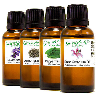 GreenHealth Brand Essential Oils 30ml (1 fl.) - 100% Pure & All Natural