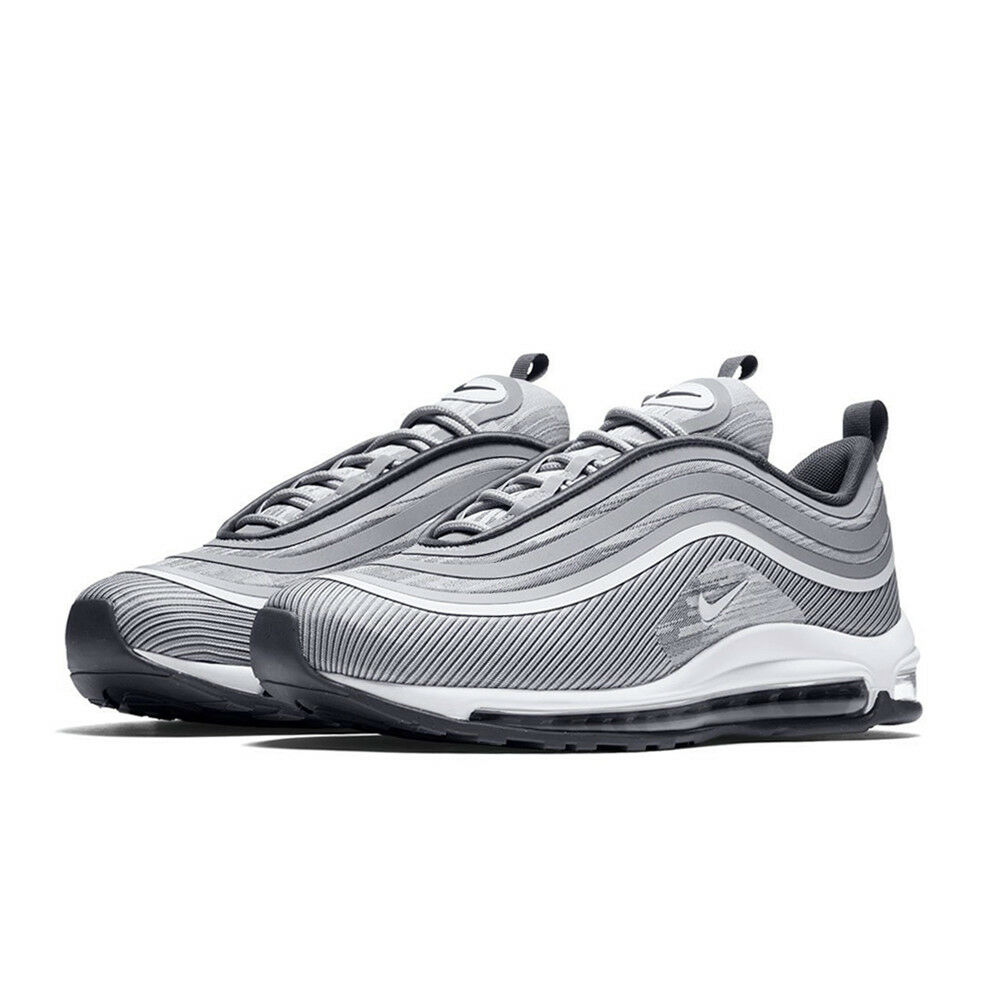 91ec17ca9fab01 Nike Mens Air Max 97 Ultra 17 Wolf Dark Grey Silver Bullet Sneakers  918356-007