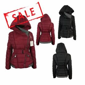 FREE DELIVERY AMAVISSE UK - NEW Women Clothes Winter Fashion Puffy Light Jacket with Hood and Belt
