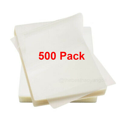 500 Pack 9 X 11.5 Letter Size Thermal Laminating Pouches Sheets Clear 3 Mil