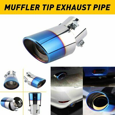 Auto Car Exhaust Pipe Tip Tail Muffler Stainless Steel Replacement Accessories D