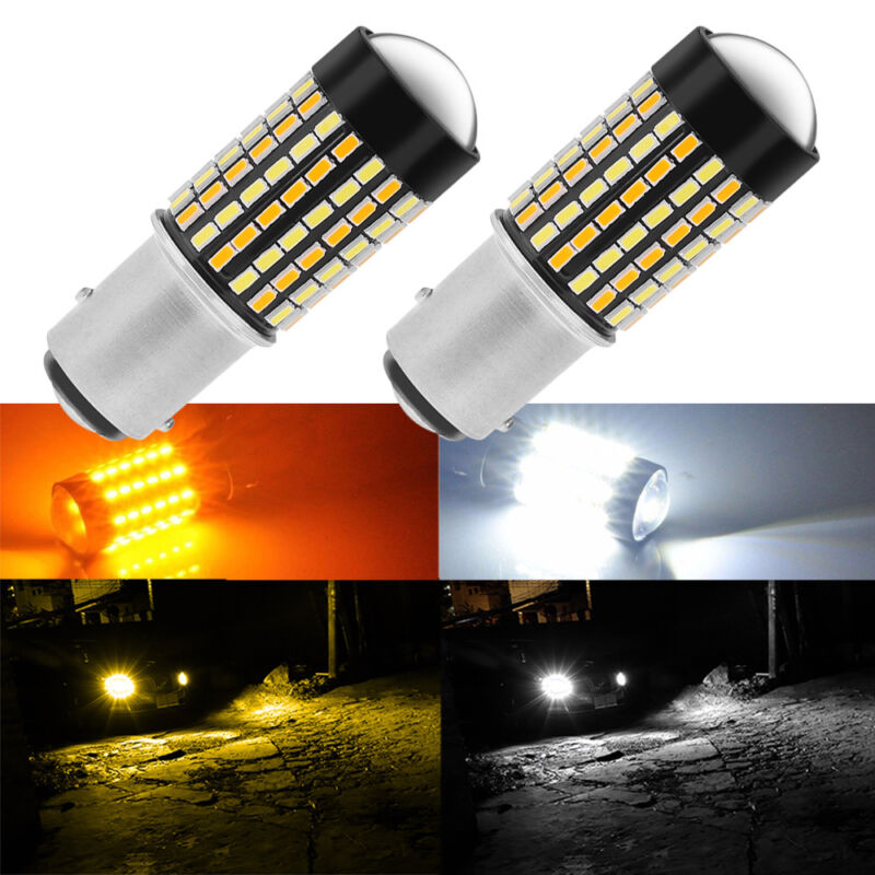 Error Free Switchback LED Turn Signal Light Bulbs For 1998-15 Honda Accord Sedan