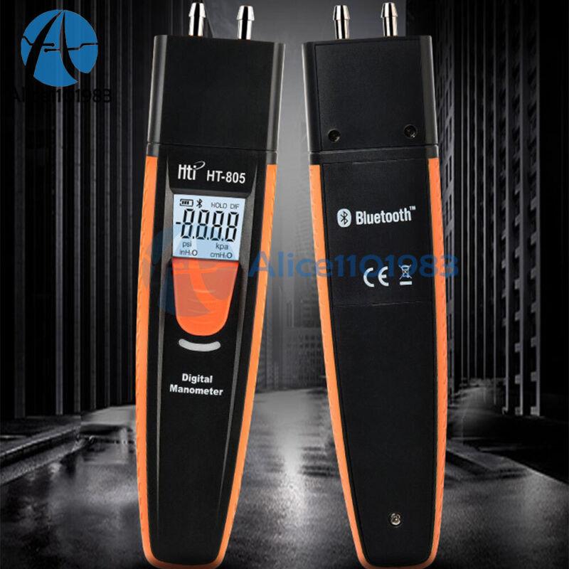 HT-805 Digital Manometer Bluetooth Air Pressure Meter Differential Gauge